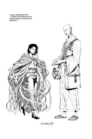 Mistborn RPG - Vin and Sazed